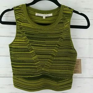 Rachel Rachel Roy stretch knit crop top xs